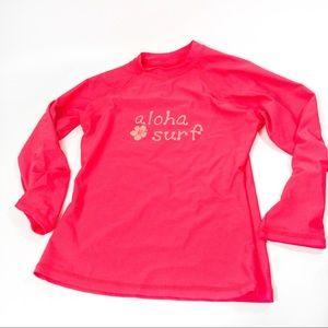 Sunspecs Hot Pink Surf/Swim Top Sz L (Girl)